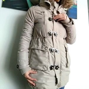 Amisu Jacket with faux fur hood removable
